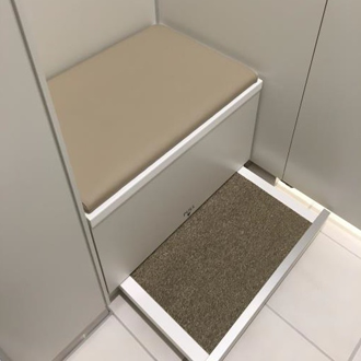 Installation of Bench with Fitting Board in Dressing Rooms